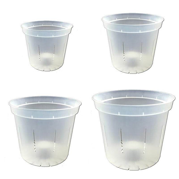 Growers Assortment of Slotted Clear Orchid Pots