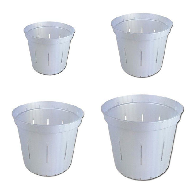 White Pearl Slotted Violet Pot - Growers Assortment Of 4 - Slot-Pots