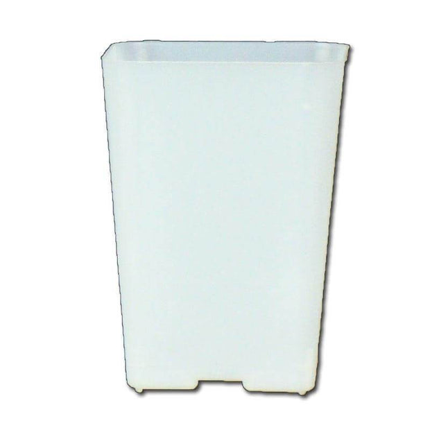 "2.25"" Clear Square Orchid Pot"