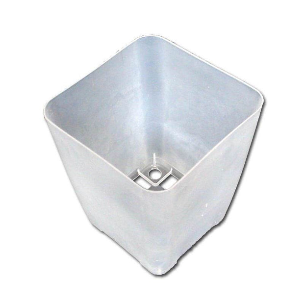 "3.25"" Clear Square Orchid Pot"