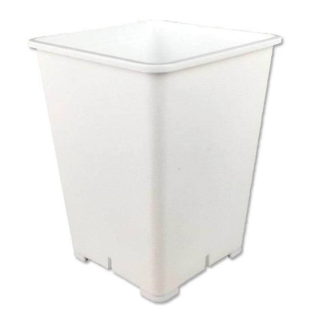 "6"" White Square 8"" Tall Giant Pot"