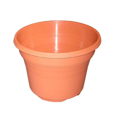 "12"" Matte Finish Terracotta Plastic Pot"