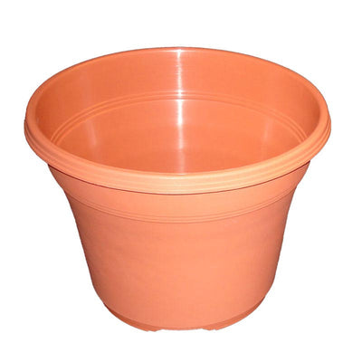 "14"" Matte Finish Terracotta Plastic Pot"