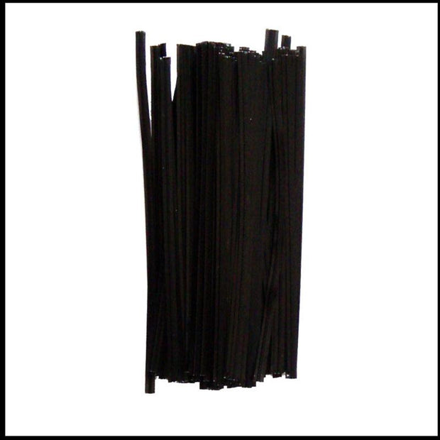 Black Plastic Twist Ties - 5 inch