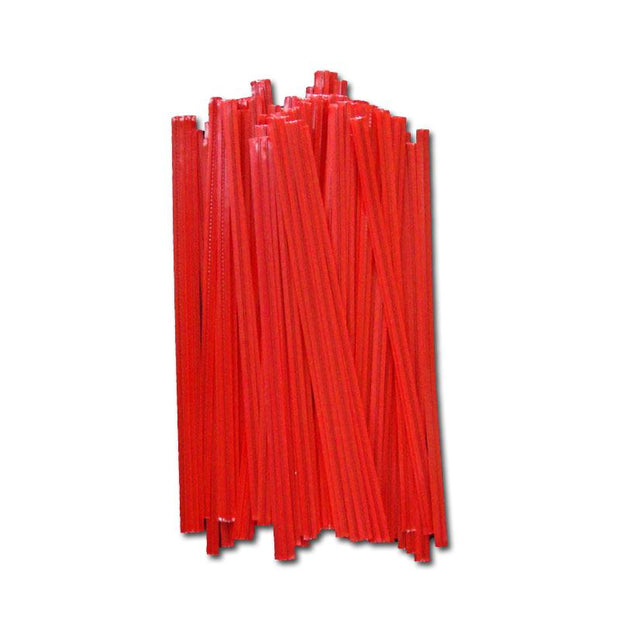 Red Plastic Twist Ties - 5 inch