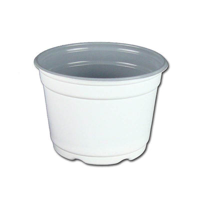 "5"" Gloss White Flower Pot"