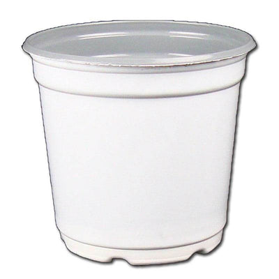 "5"" Taller Gloss White Flower Pot"