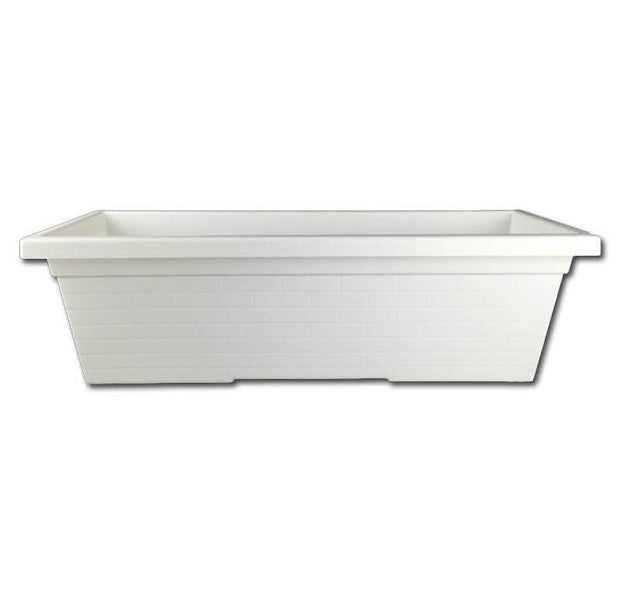 White Plastic Window Box