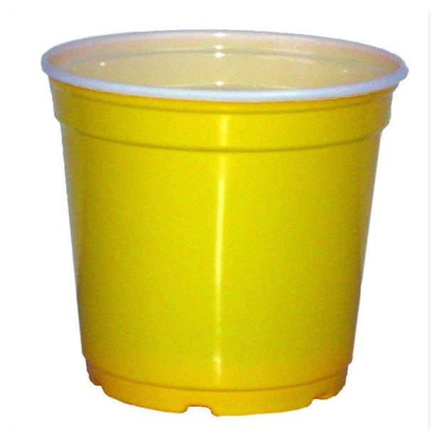 "5"" Taller Gloss Yellow Flower Pot"