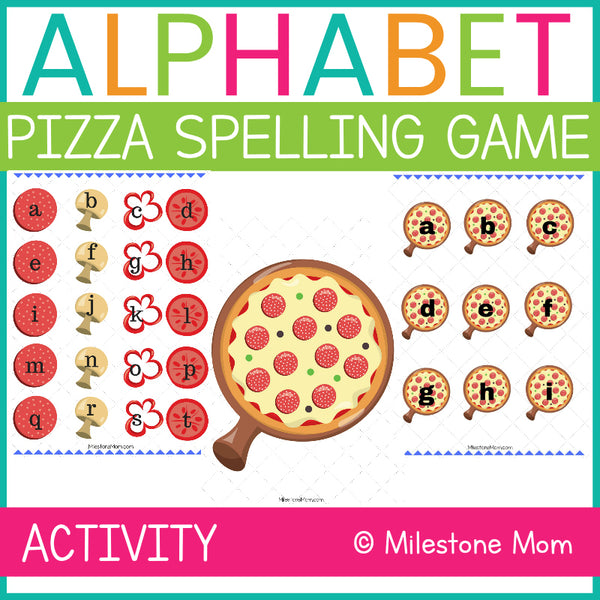 Alphabet Pizza Spelling Game