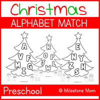 Christmas Alphabet Letter Match