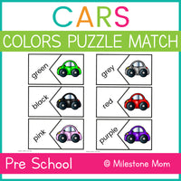 Cars Color Matching Puzzle