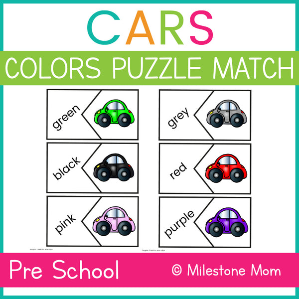 Cars Color Puzzle Match