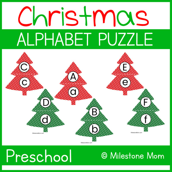 Christmas Tree Alphabet Puzzle