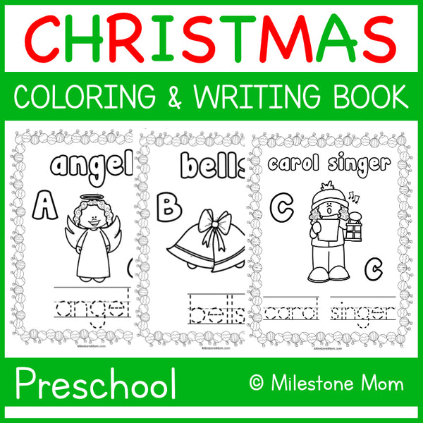 Christmas A-Z Coloring & Tracing Packet