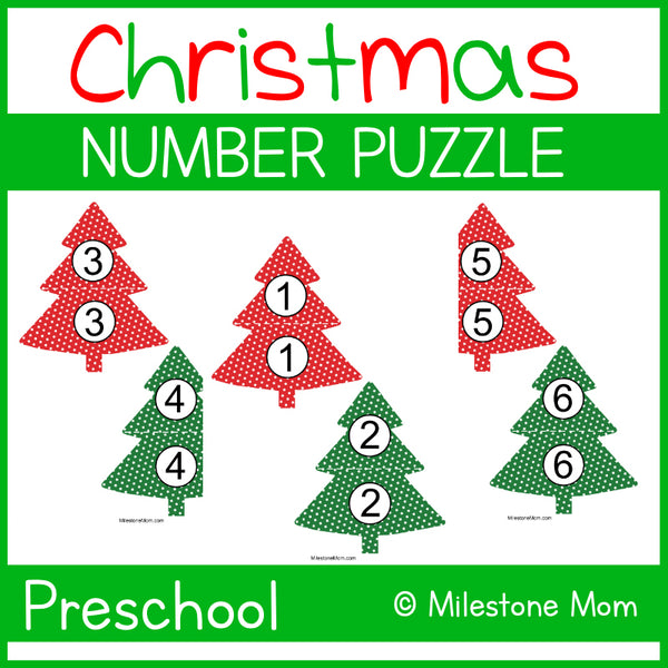 Christmas Tree Number Puzzle