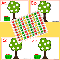Letter Tree A-Z (Upper & Lower Case Letters)