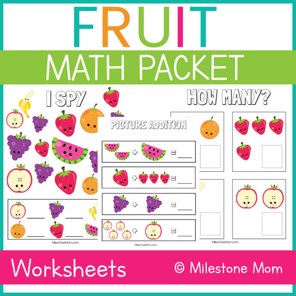 Fruit Math Packet