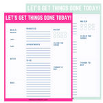 Let's Get Things Done Printable