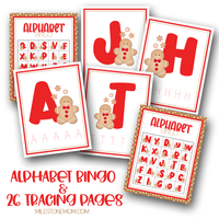 Gingerbread Letter Tracing & Bingo