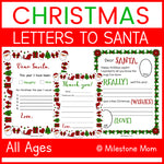Letters to Santa + Thank You Letter
