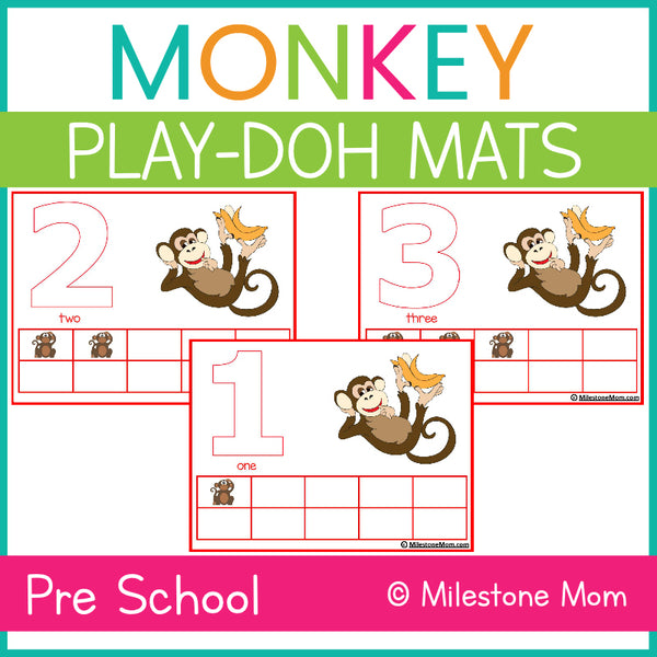Monkey Play-Doh Mat