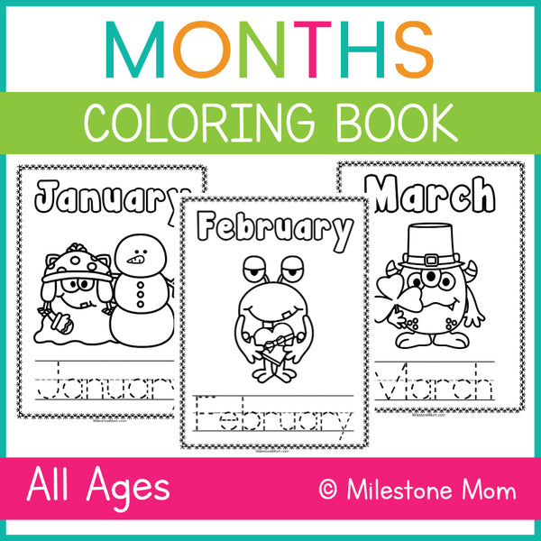 Monthly Monsters Coloring & Tracing Book