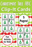 Christmas Present and Tree Clip-it Cards