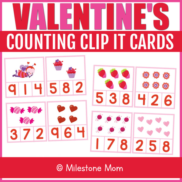Valentine's Clip It Cards