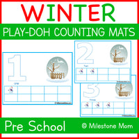 Winter Play-Doh Mat
