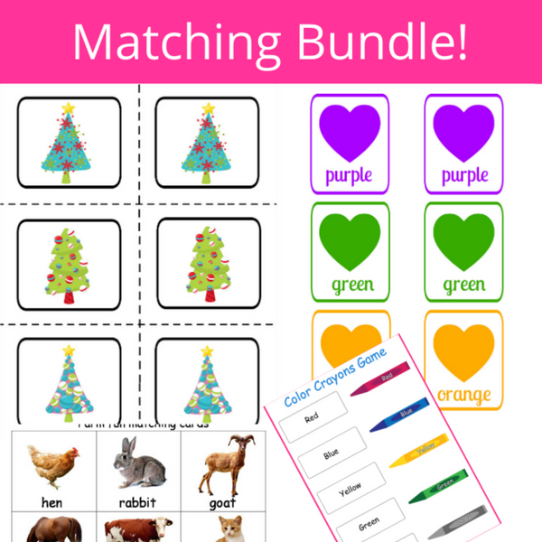 31 Page Matching Bundle + Bonus Book