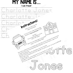 (Editable) Personalized Name Tracing Packet