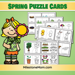 English & Spanish Spring Puzzle Cards