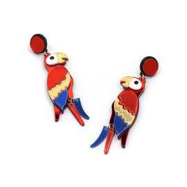 Parrot Drop Earrings