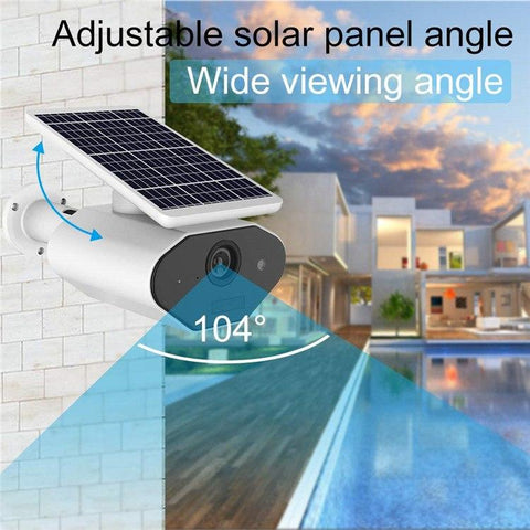 Outdoor CCTV Solar Powered Waterproof WiFi IP Camera with Voice Interaction