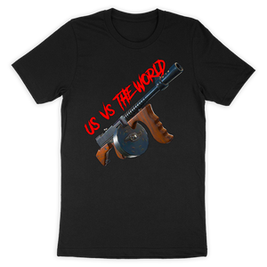 Us Vs The World Drum Gun - Tshirt