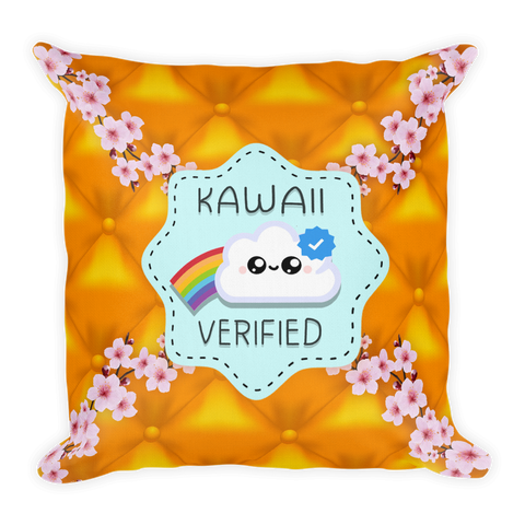 Kawaii Verified - Throw Pillow