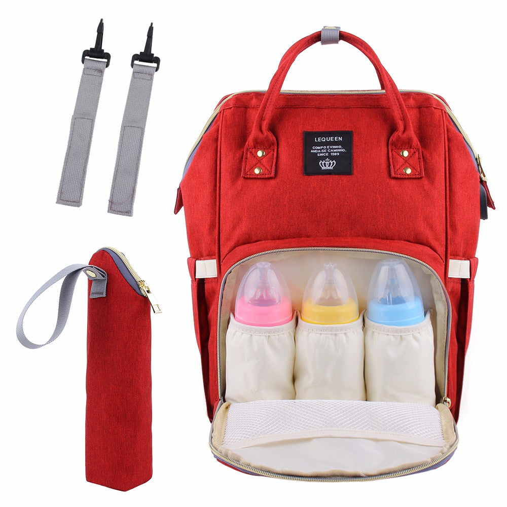 1d580e977bd4 Lequeen Diaper Bag Multi-Function Waterproof Travel Backpack Nappy ...