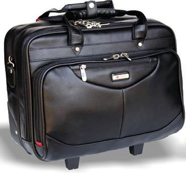 Workmate Leatherette Laptop Trolley Bag 167