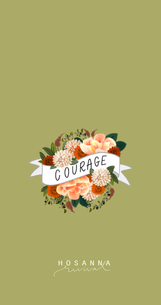 Courage Banner Lock Screen