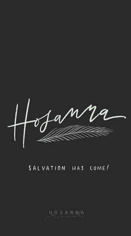 Hosanna Charcoal Lock Screen