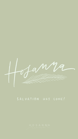 Hosanna Lock Screen - Mint