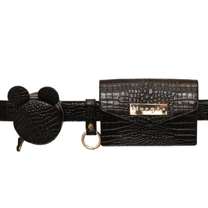 ADELINE BLACK  KEYCHAIN  BELT
