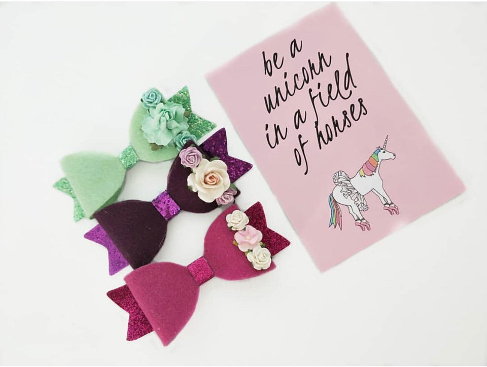 Flower Crowns & Felt Merino Bows