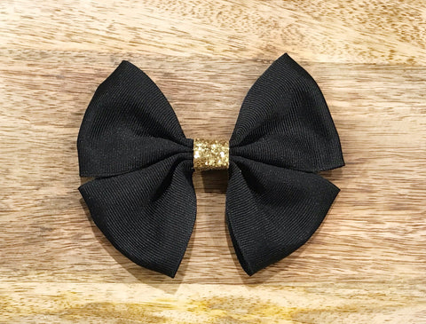 Double Ribbon Glam Bow - 2 Colours