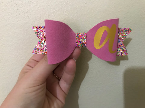 Initial Letter Bow