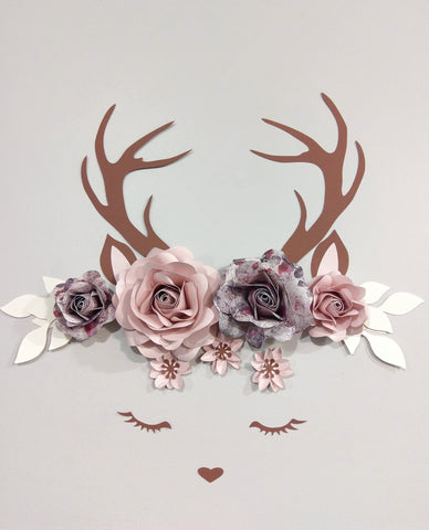 Deer Decor Flower Set