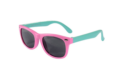 bendable sunglasses pink and mint