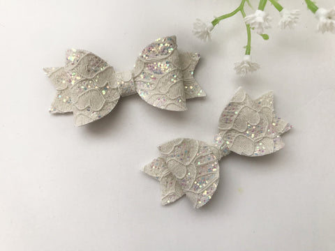 Lace Glitter Piggy Clips