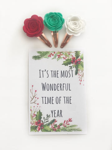 Christmas Blooms Snap Clips